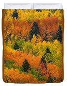 Quaking Aspen And Ponderosa Pine Trees Duvet Cover