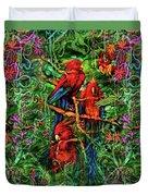 Qualia's Parrots Duvet Cover