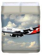 Quantas Boeing 747 Duvet Cover