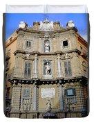 Quattro Canti In Palermo Sicily Duvet Cover