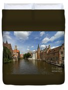 Quay Of The Rosary In Bruges Belgium Duvet Cover
