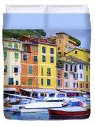 Quayside At Portofino Duvet Cover