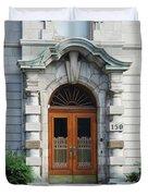 Quebec City Doors 1 Duvet Cover