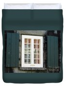 Quebec City Windows 47 Duvet Cover