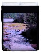 Quebec River Duvet Cover