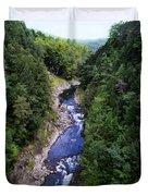 Quechee Gorge In Vermont Duvet Cover