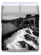 Quechee, Vermont - Falls 3 Bw Duvet Cover