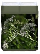 Queen Anne Lace In The Wind Duvet Cover