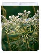 Queen Anne's Lace In Green Horizontal Duvet Cover