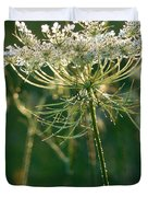 Queen Anne's Lace In Green Vertical Duvet Cover