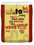 Queen. Can You Order The Lyrics? Dreamers Ball. Duvet Cover