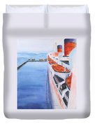 Queen Mary From The Bridge Duvet Cover