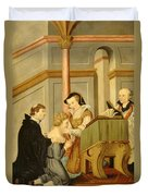 Queen Mary I Curing Subject With Royal Duvet Cover