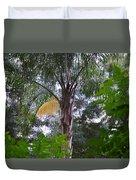 Queen Palm Gold Duvet Cover