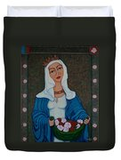 Queen St Isabel - The Miracle Of The Roses Duvet Cover