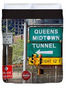 Queens Midtown Tunnel Duvet Cover