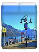 Queenstown's Majestic Mountains Duvet Cover