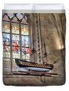 Quelven Church, Brittany, France, Ship Duvet Cover