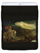 Quest For The Holy Grail Duvet Cover by Arthur Hughes
