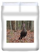 Questioning Wild Turkey Duvet Cover