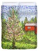Quick Blossoms, New Grass Duvet Cover