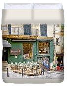 Quiet Cafes In Palma Majorca Spain   Duvet Cover