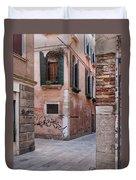 Quiet Corner In Venice Duvet Cover