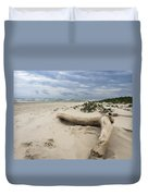 Quiet Day At The Beach Duvet Cover