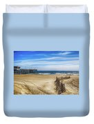 Quiet Day On The Beach Duvet Cover