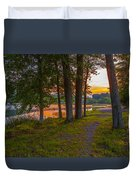 Quiet Evening, Pocono Duvet Cover