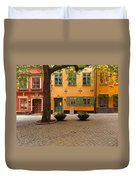 Quiet Little Square In Old Gamla Stan In Stockholm Sweden Duvet Cover