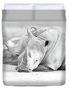 Rhino Quiet Moment Duvet Cover