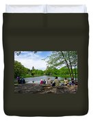 Quiet Moment In Central Park Duvet Cover