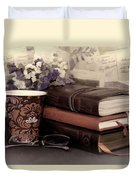 Quiet Reading Time Duvet Cover