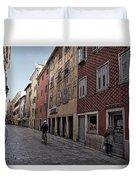 Quiet Street In Rovinj - Croatia Duvet Cover