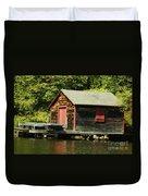 Quiet Sunapee Fishing Cabin Duvet Cover