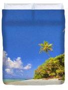 Quiet Tahiti Beach Duvet Cover