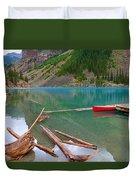 Moraine Lake I, Alberta Duvet Cover