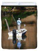 Quietly Fishing Duvet Cover