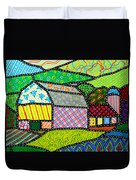 Quilted Bath County Barn Duvet Cover
