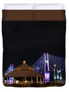 Quincy Bay View At Night Duvet Cover