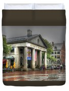 Quincy Market On A Wet Day Duvet Cover