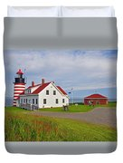 Quoddy Head Lighthouse Duvet Cover