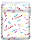 Quoted Emotions Duvet Cover