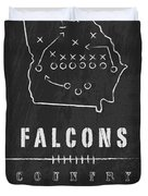 Atlanta Falcons Art - Nfl Football Wall Print Duvet Cover