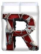 R Is Rock N Roll Duvet Cover