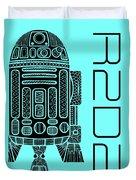 R2d2 - Star Wars Art - Blue Duvet Cover