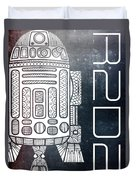 R2d2 - Star Wars Art - Space Duvet Cover