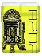 R2d2 - Star Wars Art - Yellow Duvet Cover