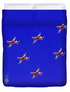 Raaf Roullettes Flying Across North Head Sydney Duvet Cover